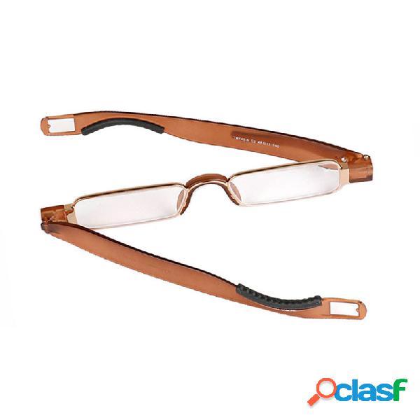 Durable tr90 lectura giratoria de 360 grados gafas ligero silicona lectura antideslizante de amortiguación gafas
