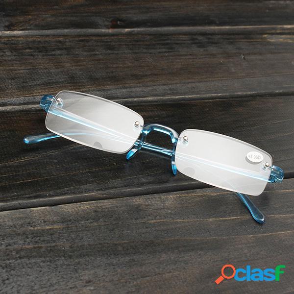 Lectura presbiópica con luz azul sin montura gafas fuerza de alivio de fatiga 1.0 1.5 2.0 2.5 3.0