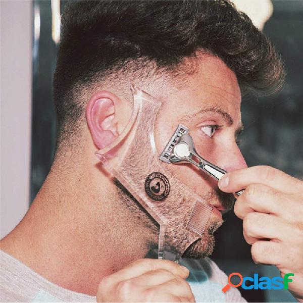 Plantilla de modelado de barba peine de peinado de barba de doble cara peine de modelado de barba cabello cuidado herramienta