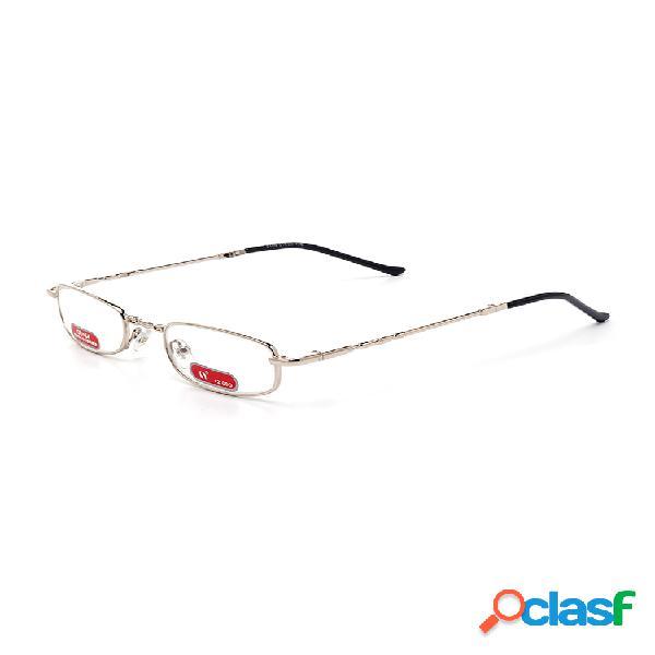 Hombres mujeres plegables cobre marco de metal cuidado de la vista lectura duradera gafas lentes con caso