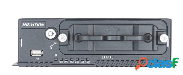 Hikvision dvr móvil de 4 canales ds-mp5504 para 1 disco duro, máx. 2tb, 1x usb 2.0, 2x rs-232 - incluye disco duro 1tb y módulo de gps
