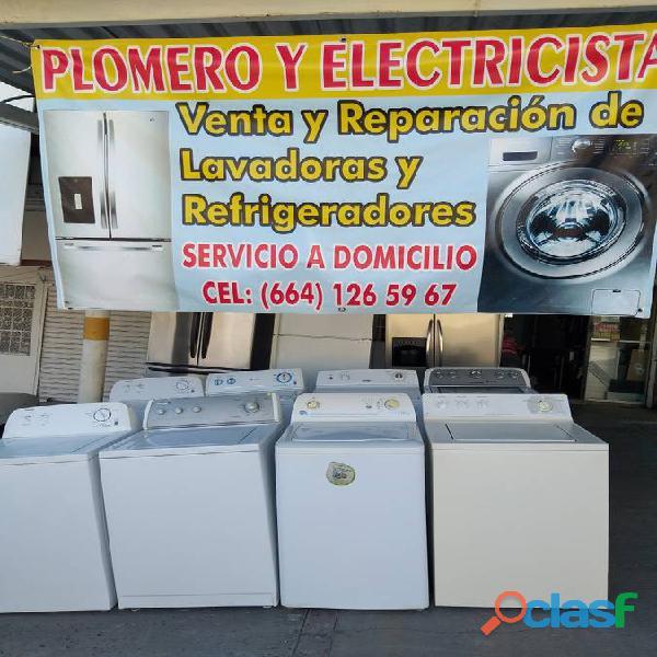 Plomero electricista venta y reparación en línea blanca local establecido