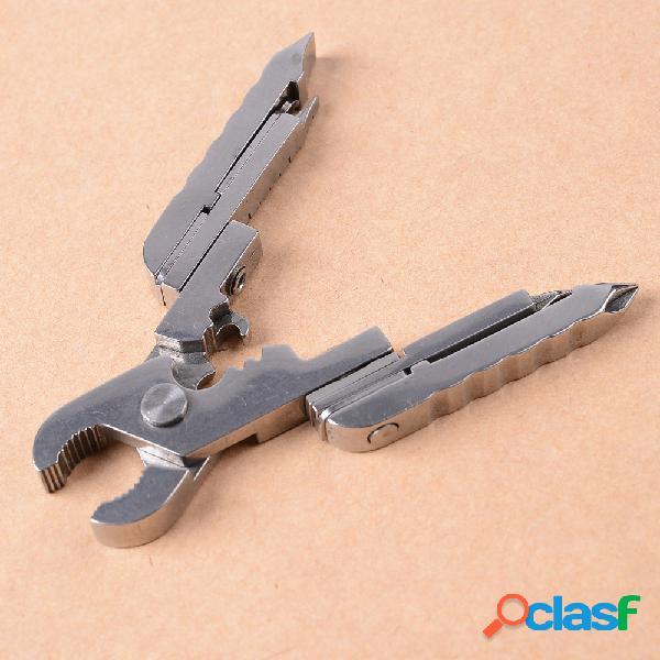 15 en 1 multi-herramienta alicates herramienta llavero combinación edc herramienta alicates plegables destornillador multi herramientas