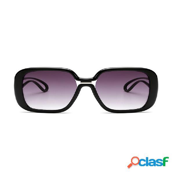 Unisex retro big caja nuevas gafas de sol gafas de sol de color en contraste para mujer