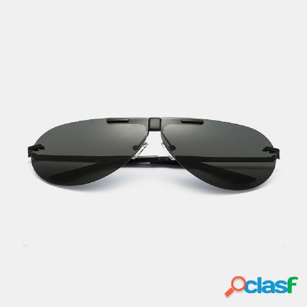Moda para hombre unisex uv400 polarizadas gafas gafas de sol plegables película de color gafas