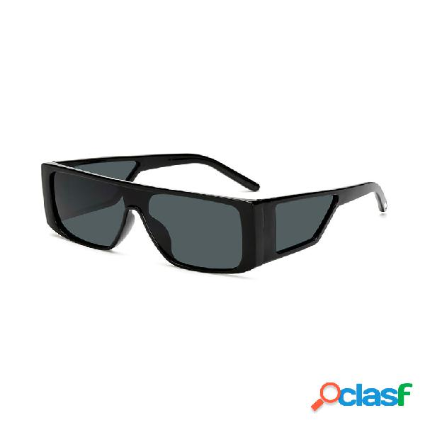 Anti-uv square retro driving gafas fashion al aire libre gafas de sol siameses