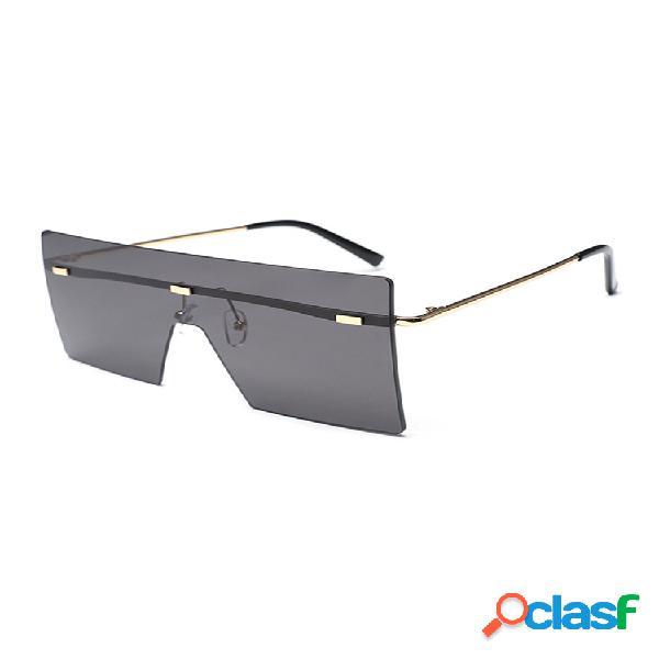Women and man square gafas gafas de sol transparentes con degradado de color sólido a la moda