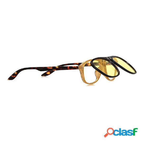 Gafas de sol con tapa sunny side para hombre y mujer - tortuga