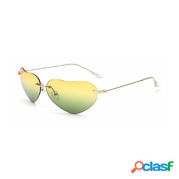 Mujer retro en forma de corazón uv400 gafas de sol anti-uv gafas de fiesta de compras ocasionales gafas