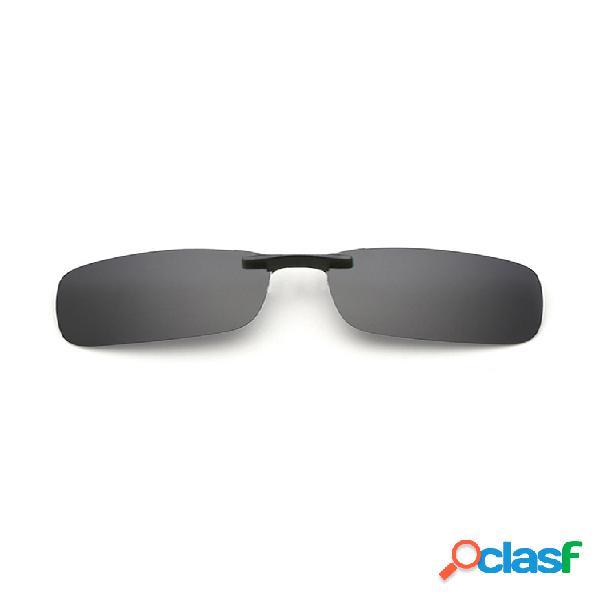 Clip de gafas de sol polarizadas ligeras del conductor para mujer para hombre myopia gafas clip de gafas de sol