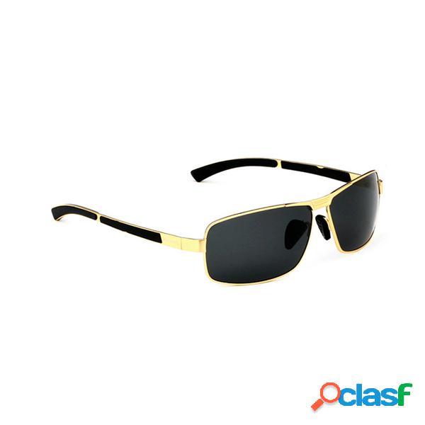 Hombres polarizados gafas de sol vintage deportes al aire libre conducción cuadrados marco gafas gafas