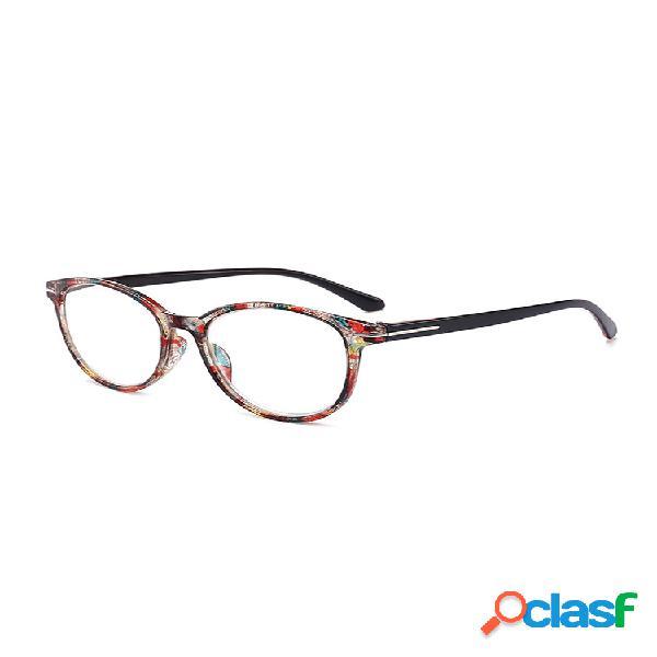 Gafas de lectura hd estampadas con cristales redondos para hombres y mujeres