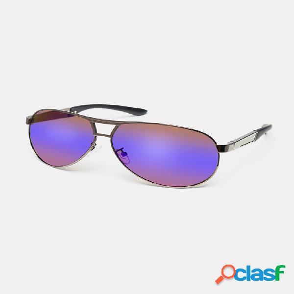 Gafas de sol polarizadas de hd visión de marco metálico para hombres y mujeres