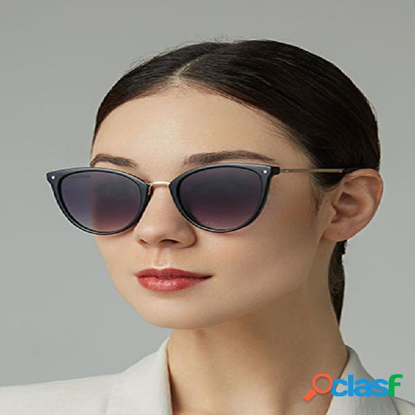 Mujer casual fashion metal full frame plus talla uv gafas de sol de protección