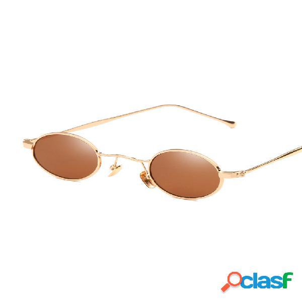 Visual de alta definición uv 400 protección fácil de limpiar gafas de sol de metal con montura redonda pequeña