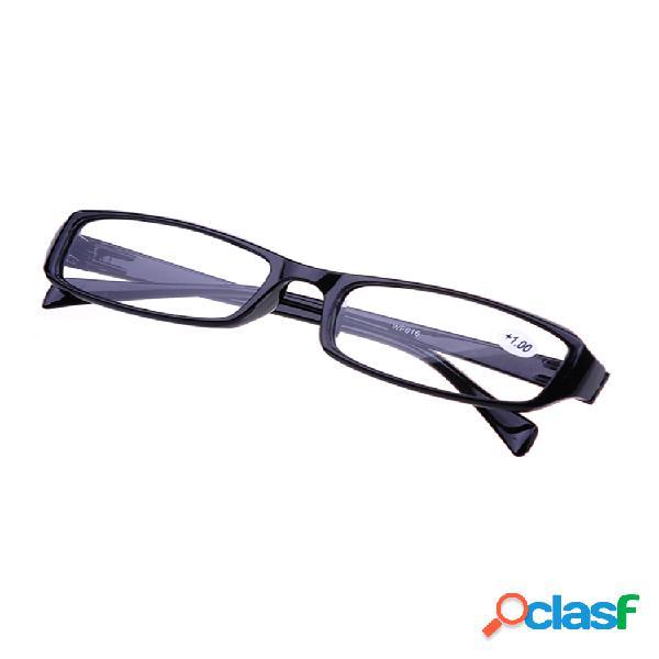 Gafas para présbita ligeras con cristales cuadrados y marco blando para hombres y mujeres