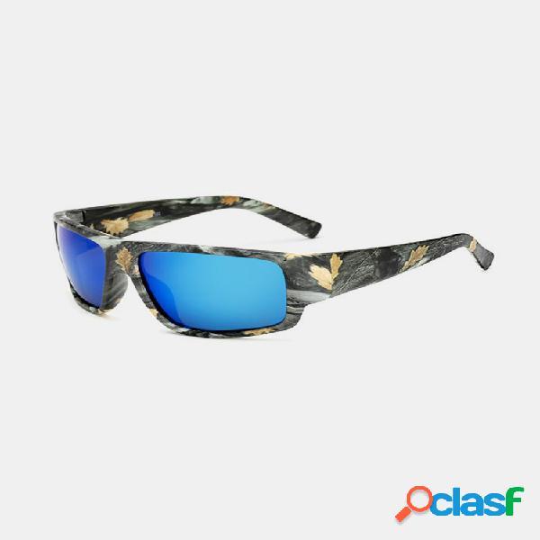 Hombre camuflaje deportivo hd gafas de sol cuadradas polarizadas uv400 al aire libre gafas de sol de conducción