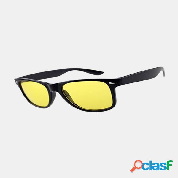 Hombre amarillo lente visión nocturna conducción gafas gafas de sol polarizadas gafas de montar