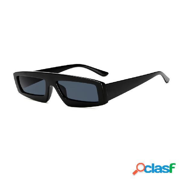 Hombre anti-uv pc lente gafas gafas de sol cuadradas irregulares