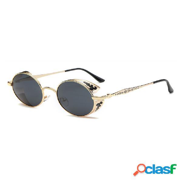 Hombre mujer hd polarizadas uv protección gafas de sol punk moda al aire libre gafas de sol redondas de viaje