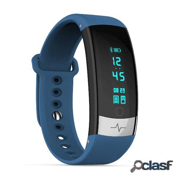 Estilo deportivo reloj inteligente monitor de ritmo cardíaco mensaje de entrenamiento para respirar recordar reloj despertador reloj inteligente