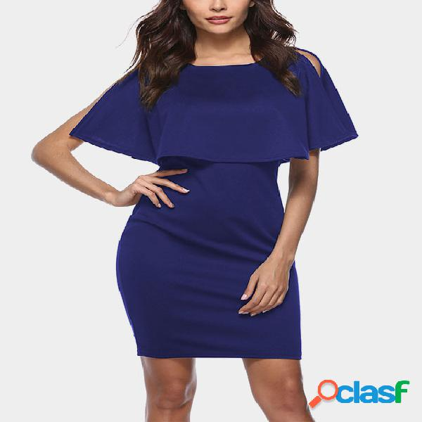 Mini vestido azul marino con diseño en niveles
