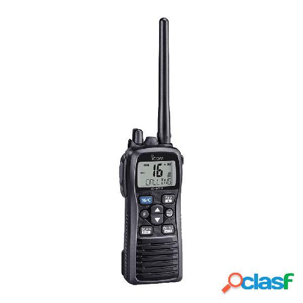 Icom radio portátil marino de 2 vías ic-m73/21, 16 canales, negro