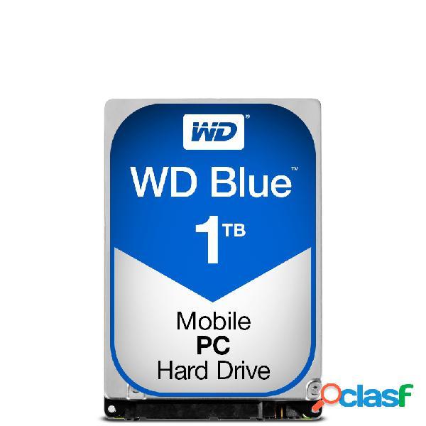 Disco duro para laptop western digital wd blue 2.5'', 1tb, sata, 6 gbit/s, 5400rpm, 16mb cache