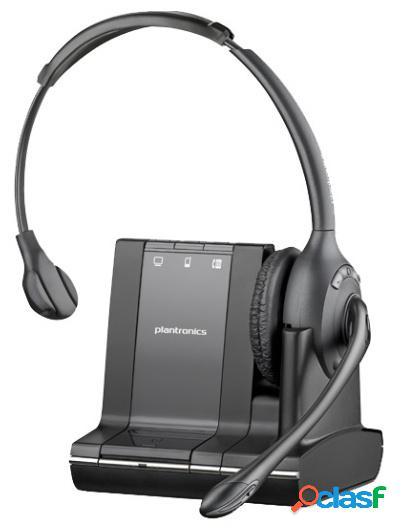 Poly audífono savi w710 para call center, 3 en 1, monoaural, inalámbrico 120 metros, dect