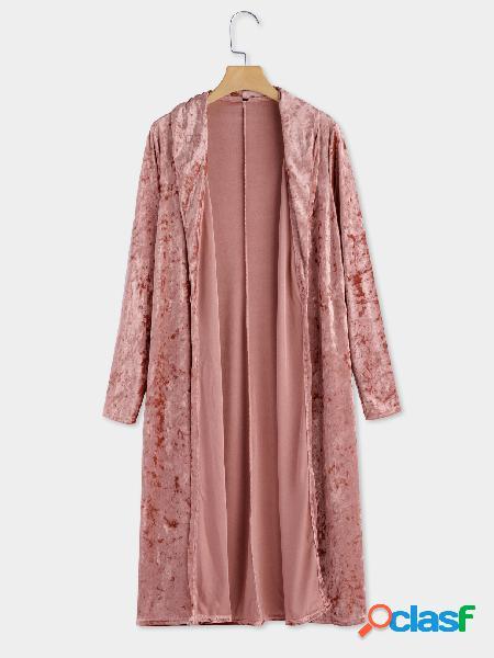 Breasted pink breasted solapa cuello mangas largas prendas de vestir exteriores