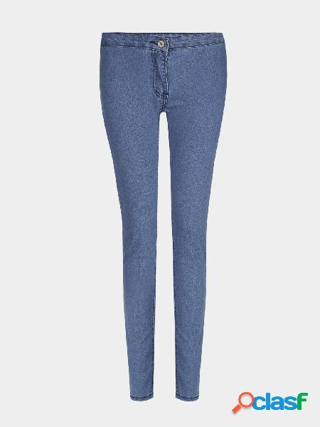 Pantalones vaqueros de bodycon de alta cintura