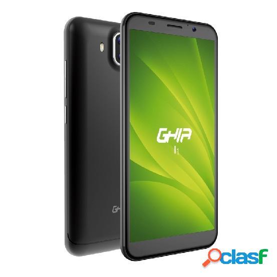 """Smartphone ghia i1n 5.45"""" dual sim, 8gb, 1gb, 3g, android 8.1, gris"""