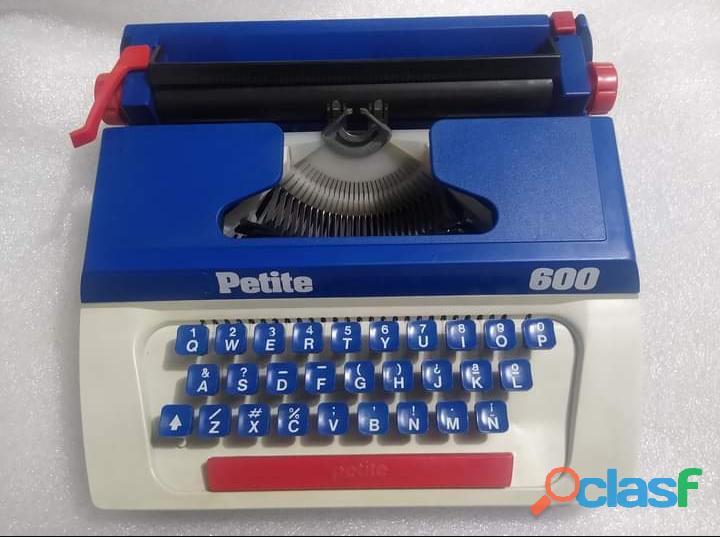 Máquina de escribir de juguete petite 600 vintage 1990 macao