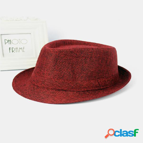 Hombre mujer sombreros panamá fedora de ala ancha gorras jazz top playa sombrero con visera