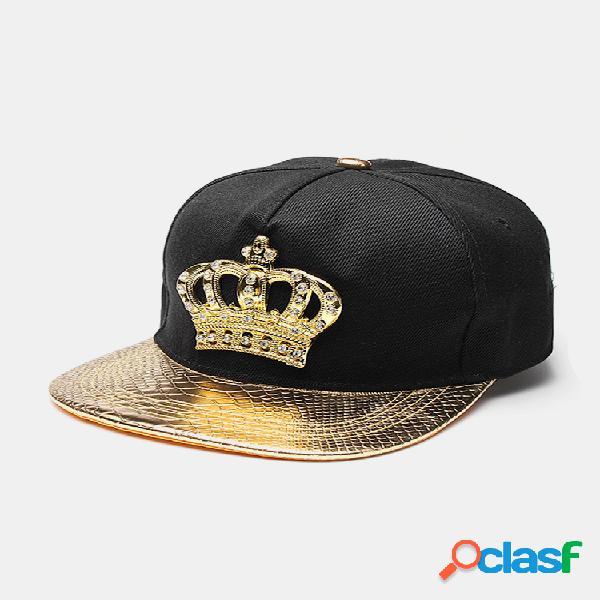 Hombres mujer sombreros snapback crown king gorras de béisbol sombreros de hip hop ajustables