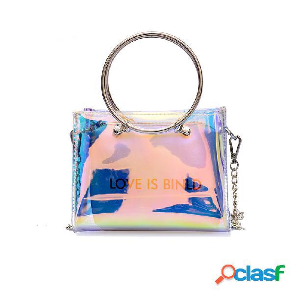 Mujer bolso messenger chain de gran capacidad bolsa bolso