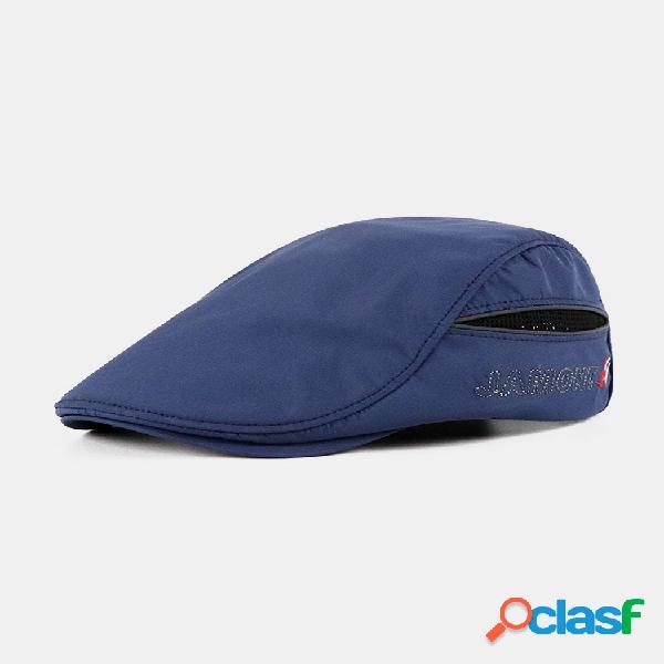 Para hombre mujer verano transpirable simple boina gorra pato sombrero sombrilla casual al aire libre en punta hacia adelante