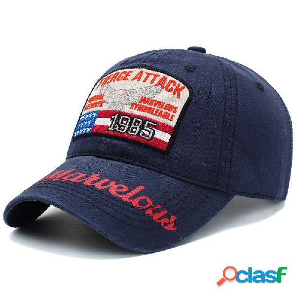 Hombres para mujer verano vendimia gorra de béisbol bordada al aire libre sombrilla ajustable ocasional sombrero