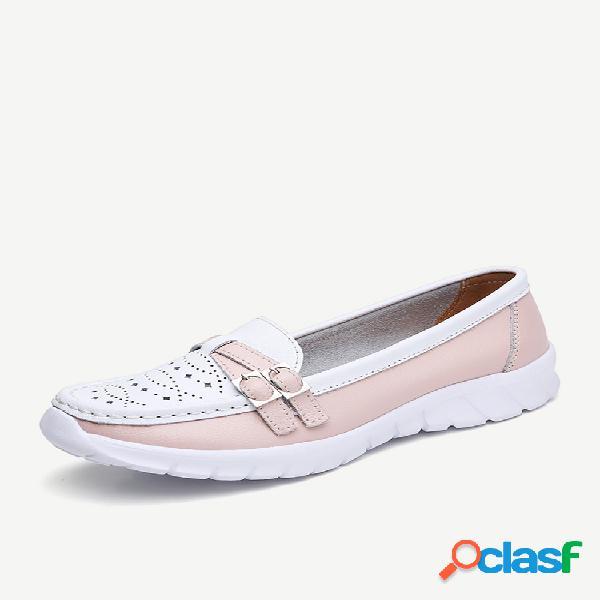 Mujer slip holgado para caminar casual en zapatos planos