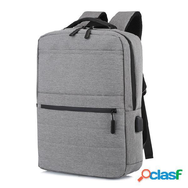 Carga usb mochila de gran capacidad computadora informal de negocios bolsa diwali
