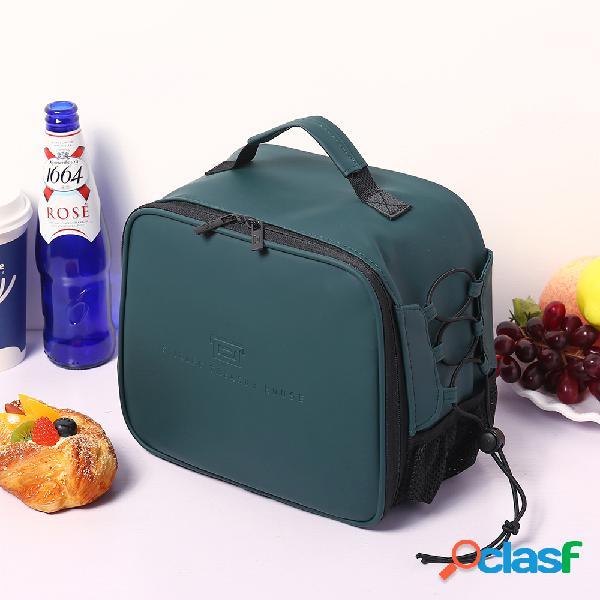 Mujer hombres de viaje picnic de aislamiento sólido bolsa almuerzo bolsa