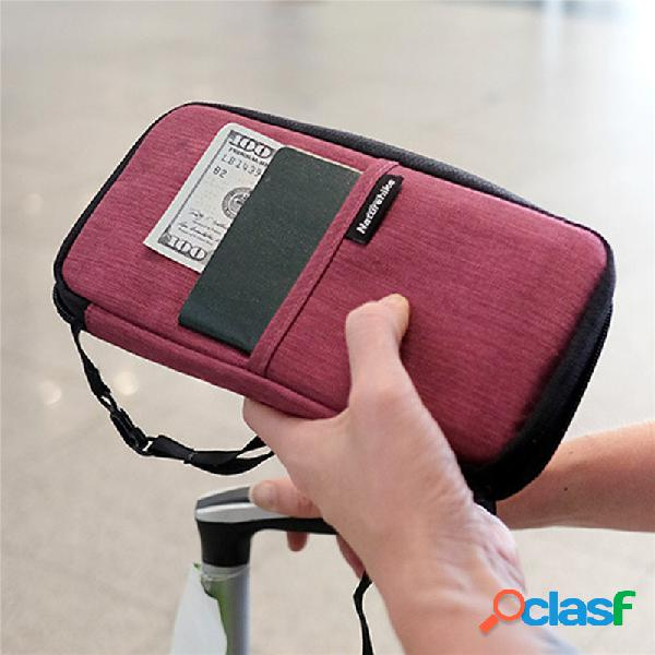 Mujer hombres impermeable pasaporte imprescindible bolsa monedero monedero
