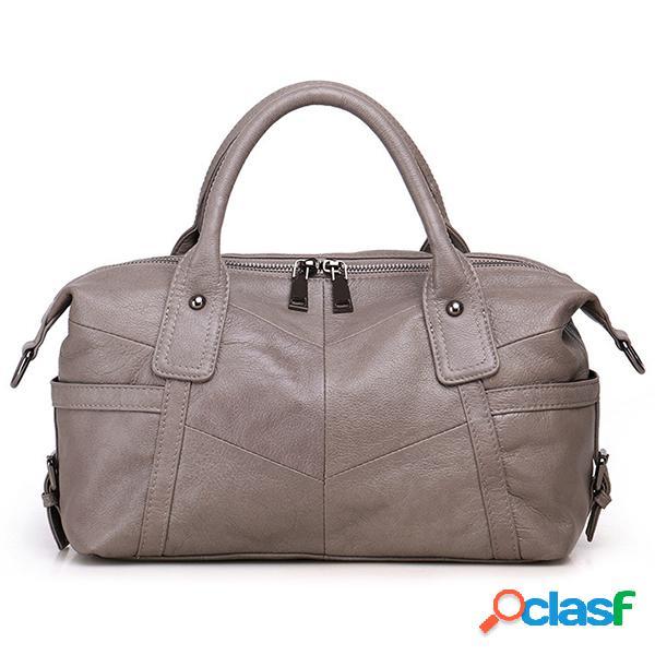 Mujer bolso tote de cuero genuino bolsa cuero cruzado de gama alta bolsa
