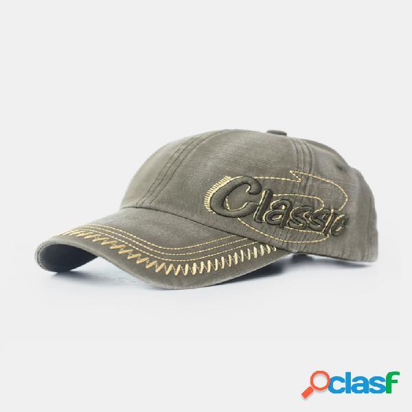 Hombre mujer béisbol ajustable sombrero gorra deportiva de hip-hop con bordado de golf