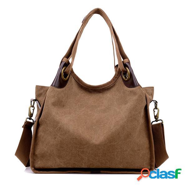 Mujer bolso de lona de gran capacidad bolso de viaje de compras bolsa