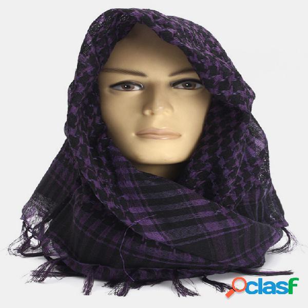 Unisex mujer hombres ligero táctico desierto árabe shemagh keffiyeh pañuelo de palestina chal