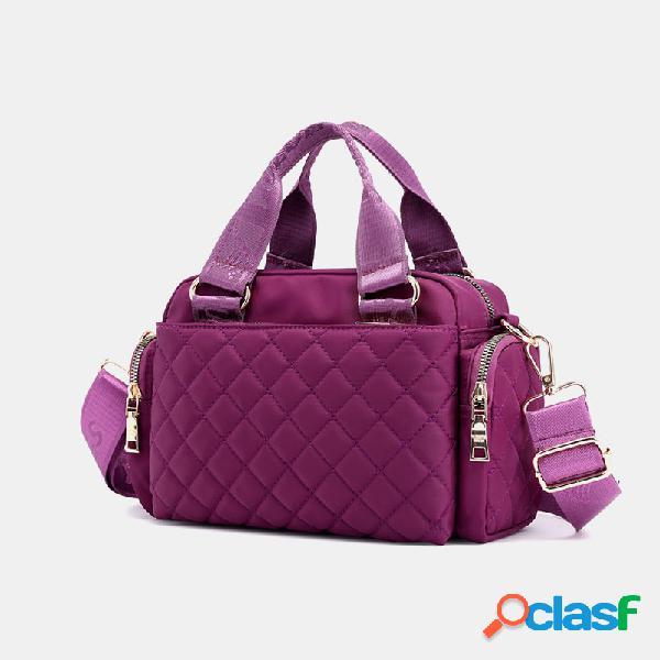 Mujer bolso bandolera argyle de gran capacidad bolsa bolso de hombro bolsa cartera bolsa