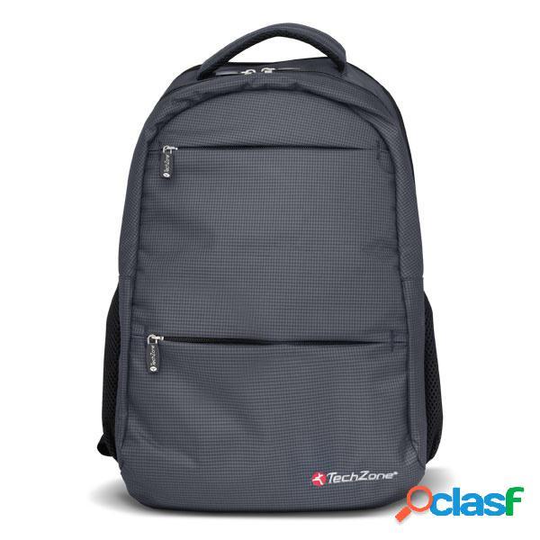 Techzone mochila de poliéster warrior para laptop 15.6'', gris