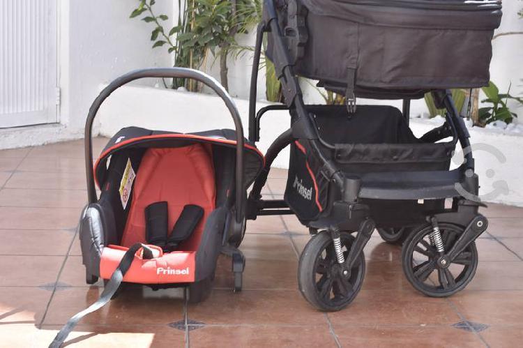 Carriola bambineto porta bebe prinsel negro y rojo