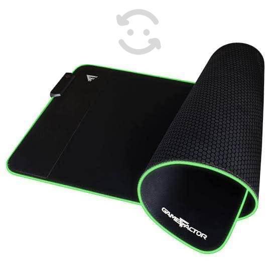 Mouse pad gamer xl rgb con cargador inalámbrico